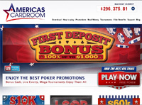 AmericasCardRoom Poker Homepage